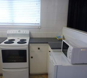 Kitchen in a one bedroom unit